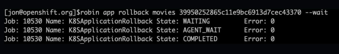 Snapshot PostgreSQL on OpenShift - Snapshot ID