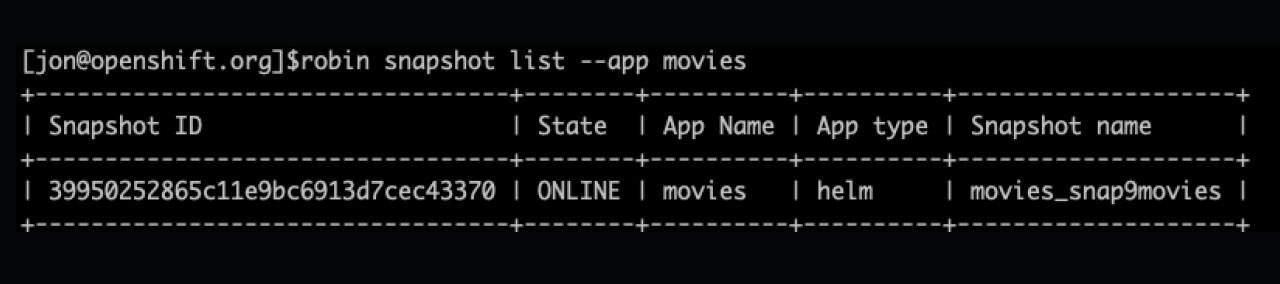 Snaptshot PostgreSQL on