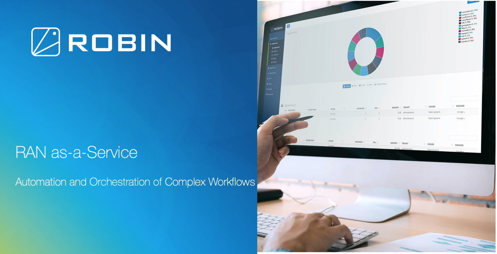 RAN-as-a-Service with the Robin Cloud-Native Platform